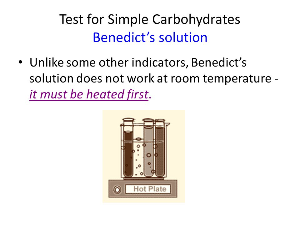Test for Complex Carbohydrates Iodine Solution Iodine solution  color change = blue to black