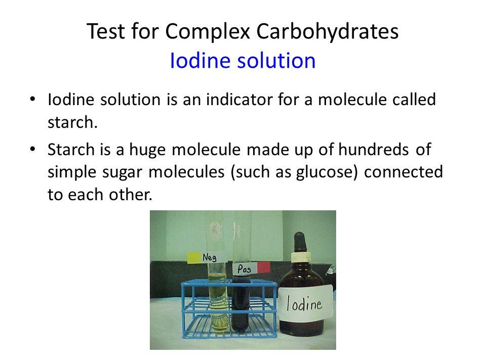 Test for Protein (amino acids) Biuret solution Biuret solution  dark violet blue to pinkish purple