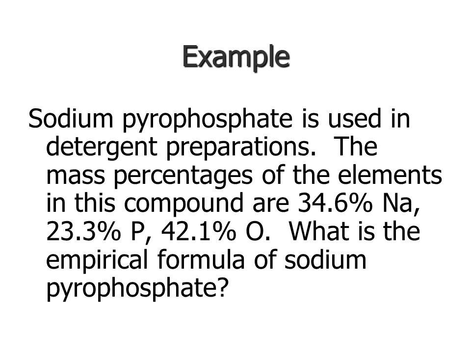 Determining Chemical Formulas Empirical formula: Example: H 2 O 2 Example: H 2 O 2
