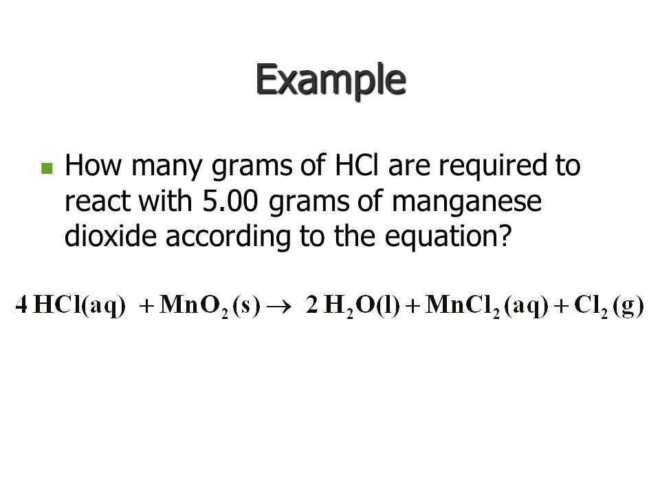 Grams of A Conversion Factor: grams A to mol A Conversion Factor: mol A to mol B Conversion Factor: mol B to grams B Grams of B X X X Flow Chart for A