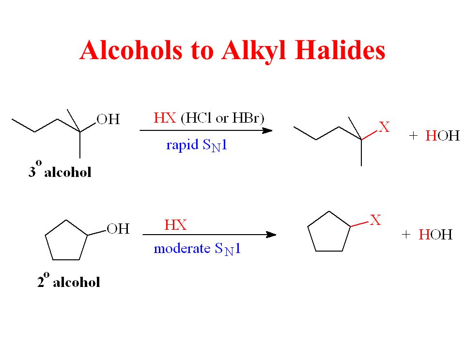 Alcohols to Alkyl Halides