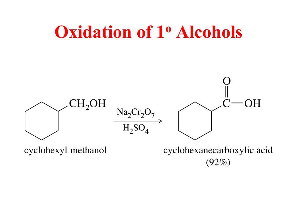 Oxidation of 1 o Alcohols