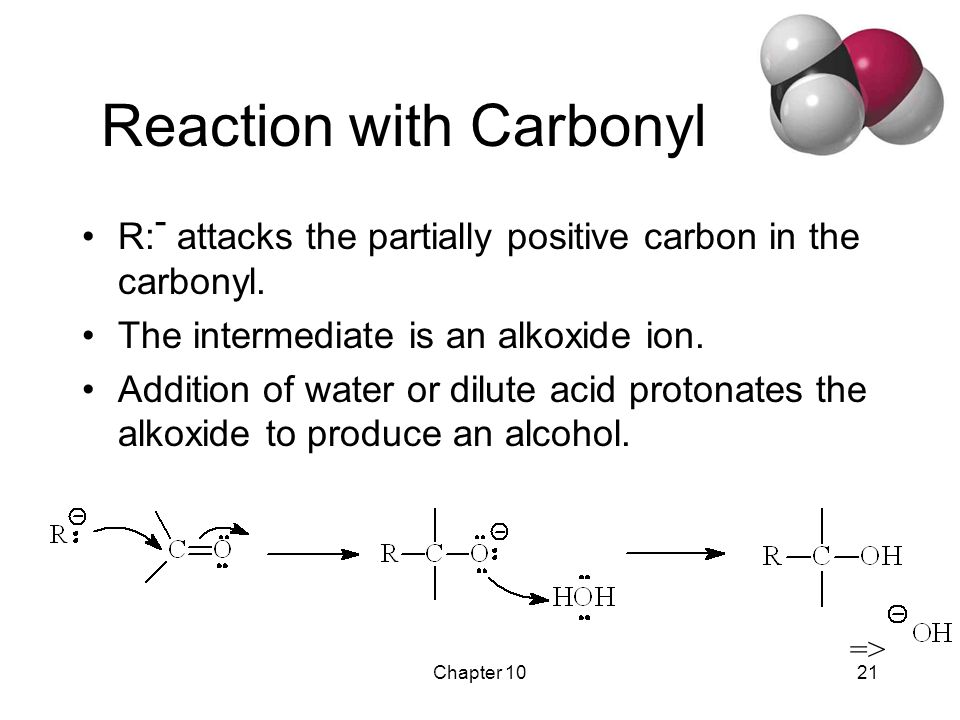 Chapter 1022 Synthesis of 1° Alcohols Grignard + formaldehyde yields a primary alcohol with one additional carbon.