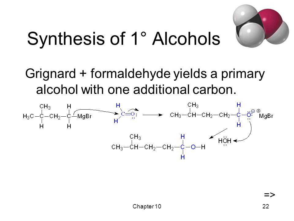 Chapter 1023 Synthesis of 2º Alcohols Grignard + aldehyde yields a secondary alcohol. =>