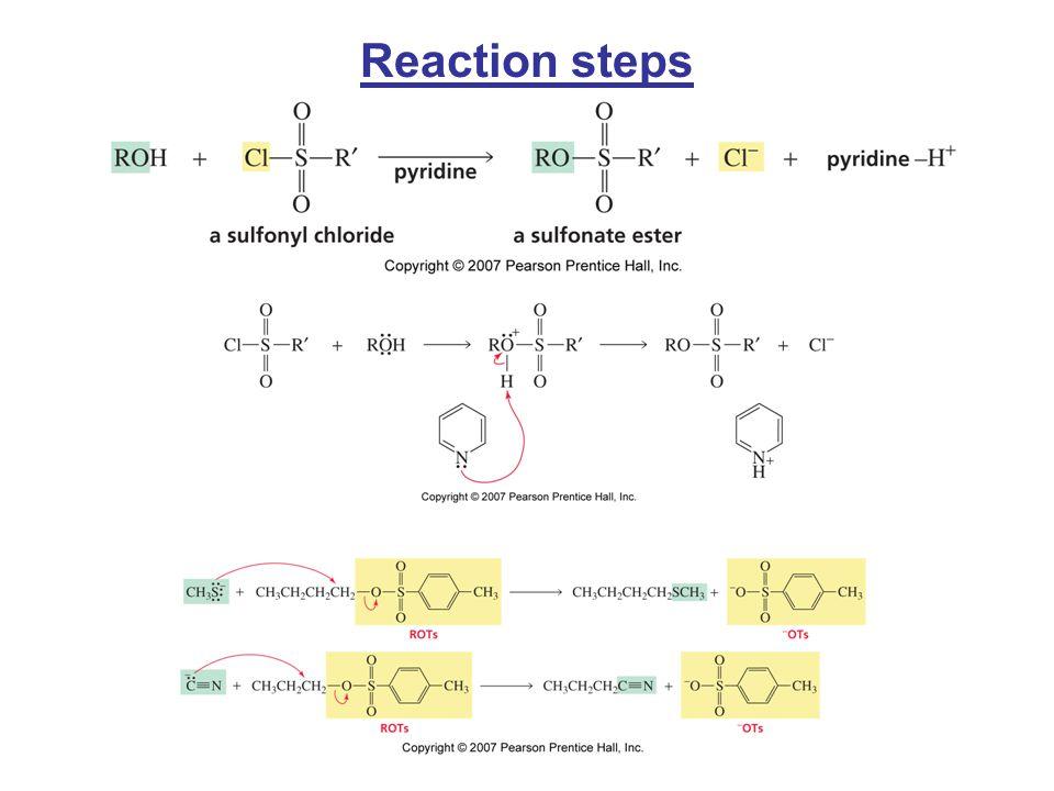 Reaction steps