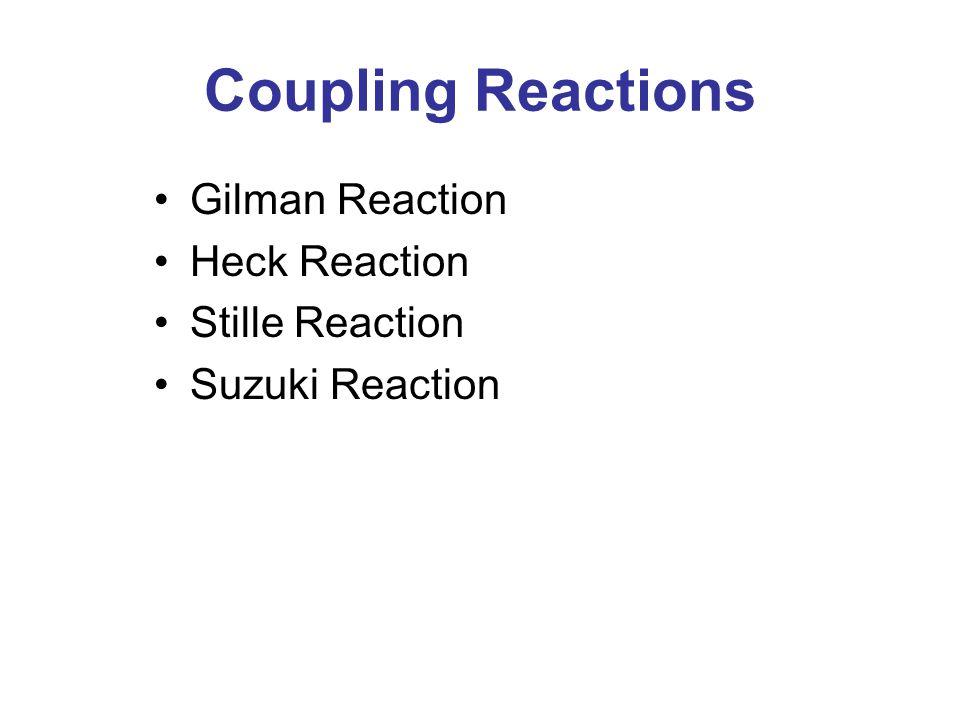 Coupling Reactions Gilman Reaction Heck Reaction Stille Reaction Suzuki Reaction