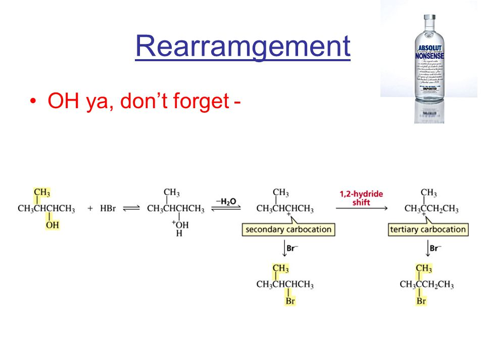 Rearramgement OH ya, don't forget -