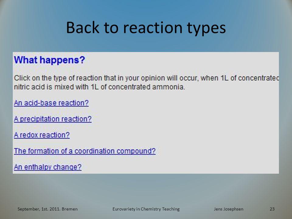 Back to reaction types September, 1st.2011.