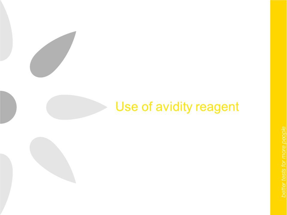 Use of avidity reagent