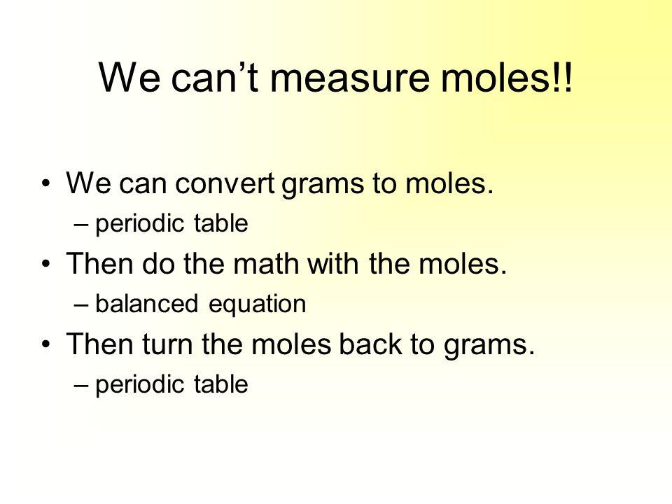 2Fe (s) + 3CuSO 4(aq)  Fe 2 (SO 4 ) 3(aq) + 3Cu (s) 10.1 g Fe 55.85 g Fe 1 mol Fe = 0.18mol Fe 2 mol Fe 3 mol Cu =0.271 mol Cu