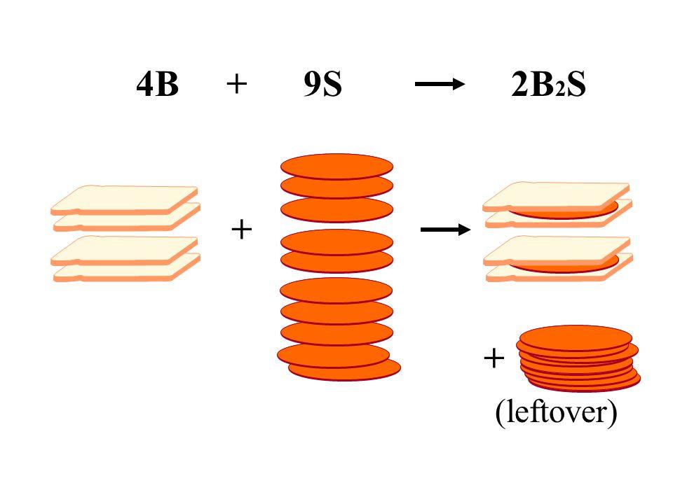 4B + 9S 2B 2 S + + (leftover)