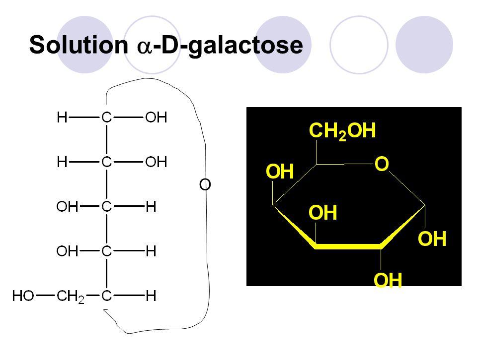 Solution  -D-galactose O