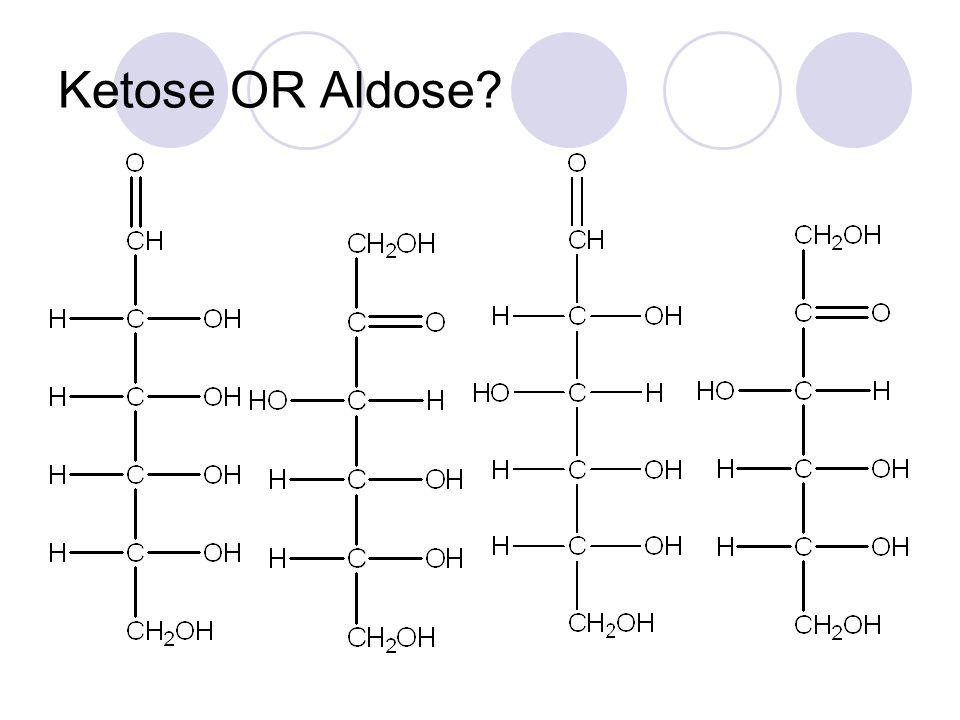 Ketose OR Aldose