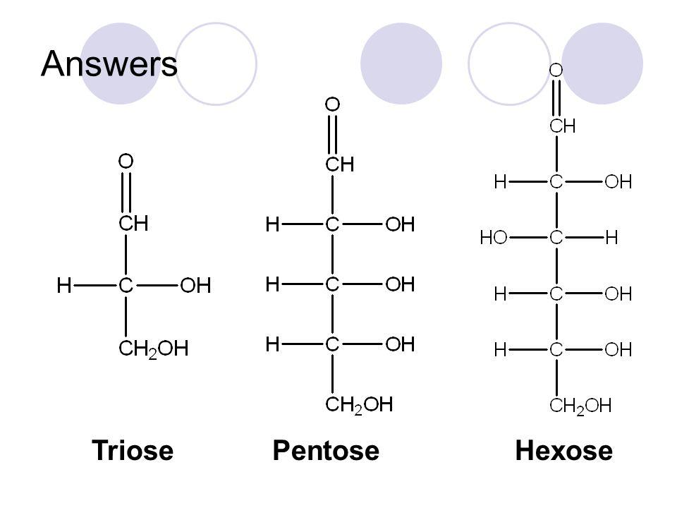 Answers TriosePentoseHexose