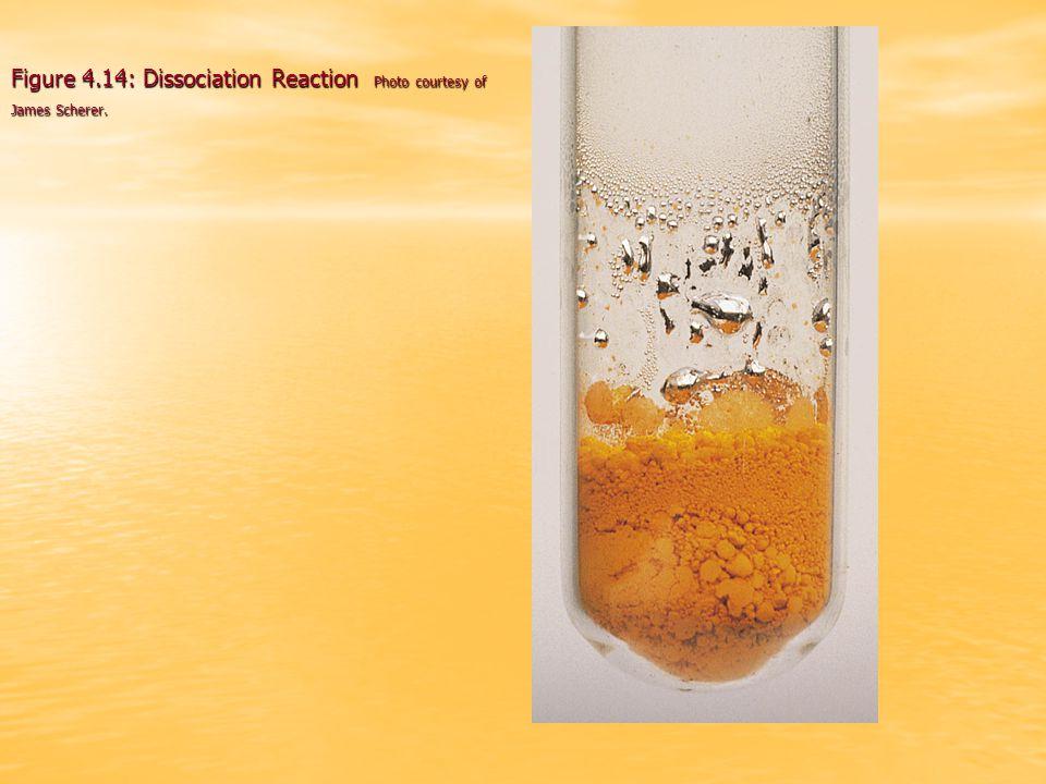 Figure 4.14: Dissociation Reaction Photo courtesy of James Scherer.