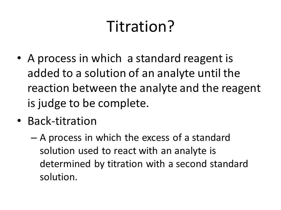 Titration.
