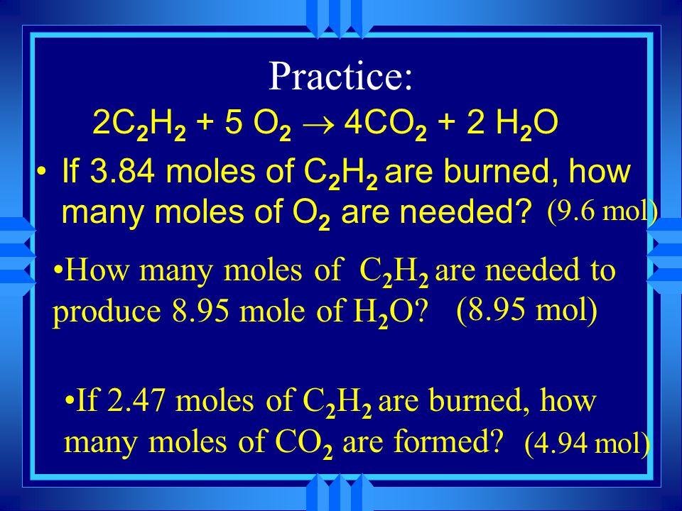Mole to Mole conversions u How many moles of O 2 are produced when 3.34 moles of Al 2 O 3 decompose.