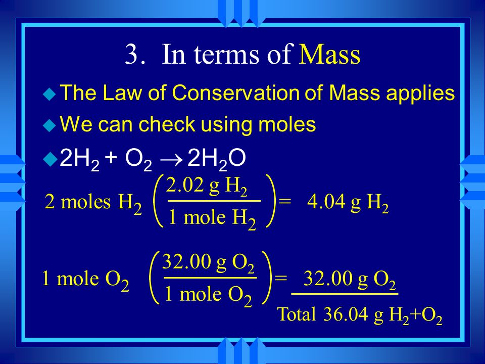 Mass-Mass Calculations u We do not measure moles directly, so what can we do.