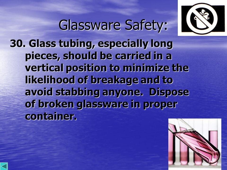 15 Glassware Safety: 30.