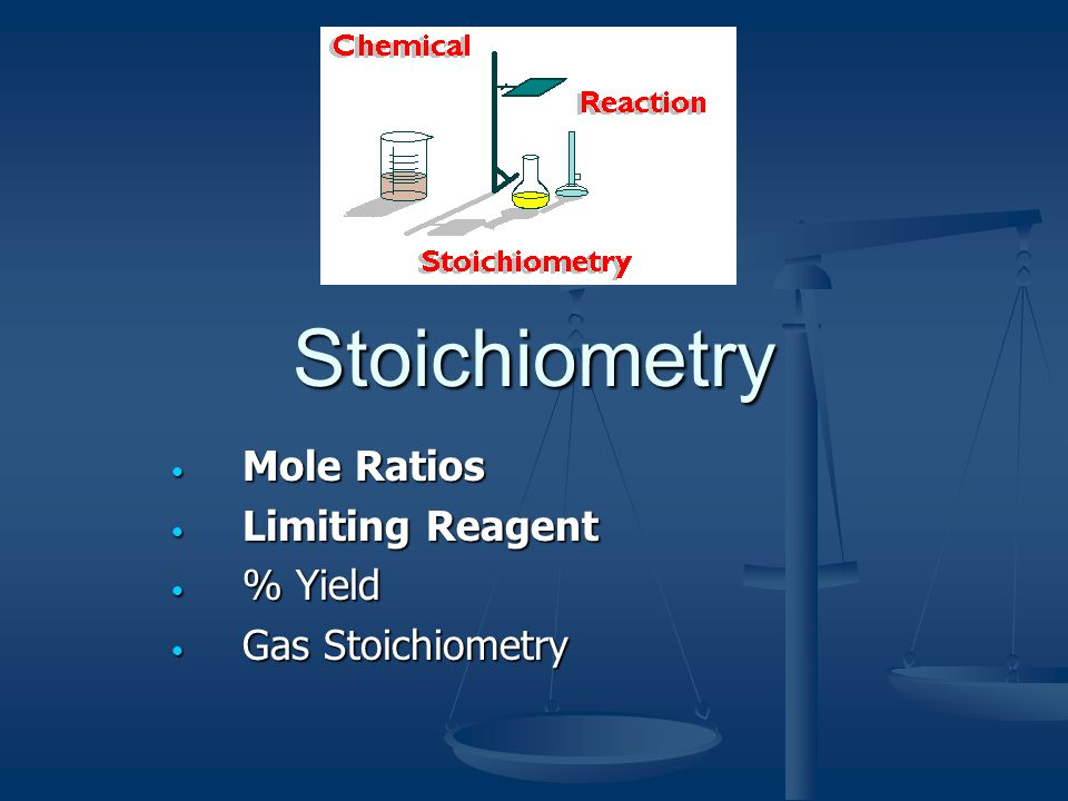 Stoichiometry Chemistry is often called the science of proportions; Kitchen Chemistry/Recipes Chemistry is often called the science of proportions; Kitchen Chemistry/Recipes Stoichiometry : the study of chemical quantities based on a balanced equation.