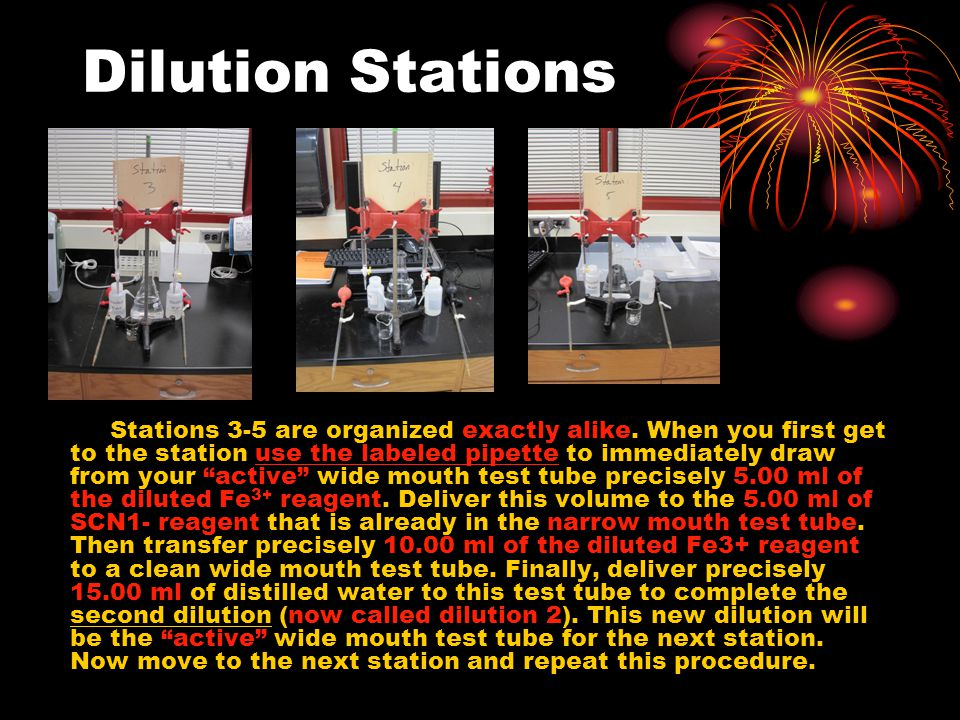 Dilution Stations Stations 3-5 are organized exactly alike.