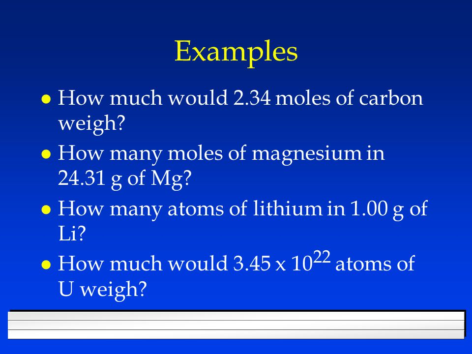 Find the molar mass of l CH 4 l Mg 3 P 2 l Ca(NO 3 ) 3 l Al 2 (Cr 2 O 7 ) 3 l CaSO 4 · 2H 2 O