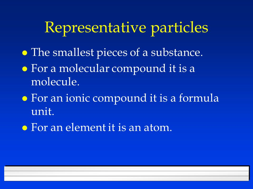 The Mole l Makes the numbers on the table the mass of the average atom.