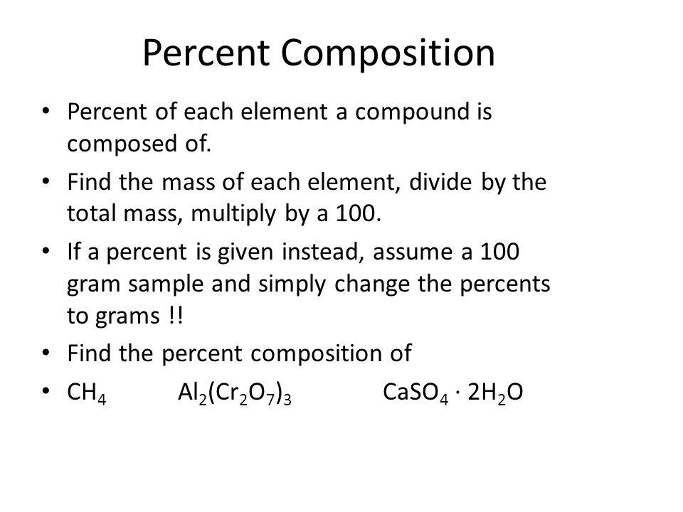 Find the molar mass of CH 4 Mg 3 P 2 Ca(NO 3 ) 3 Al 2 (Cr 2 O 7 ) 3 CaSO 4 · 2H 2 O