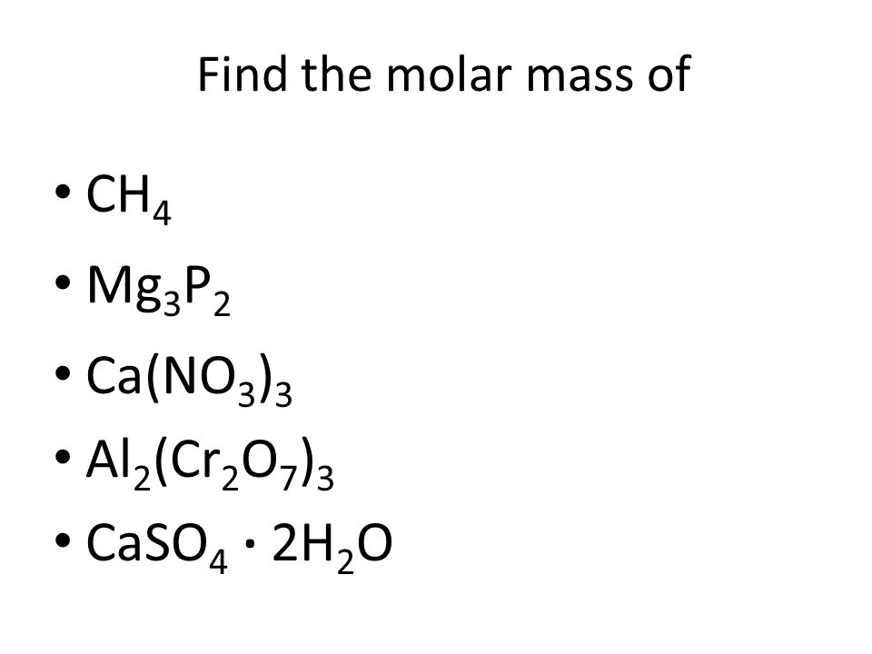 Some Generic Names You can use the terms weight and mass interchangeably here. The most general term is FORMULA WT. Molar mass is another common term.