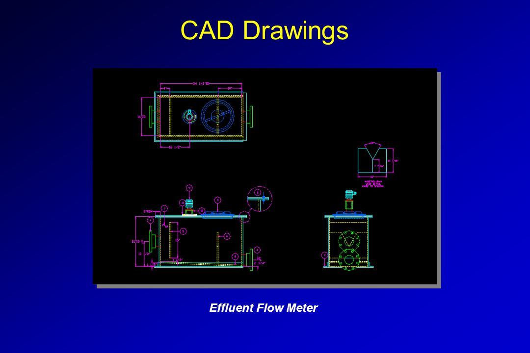 CAD Drawings Effluent Flow Meter