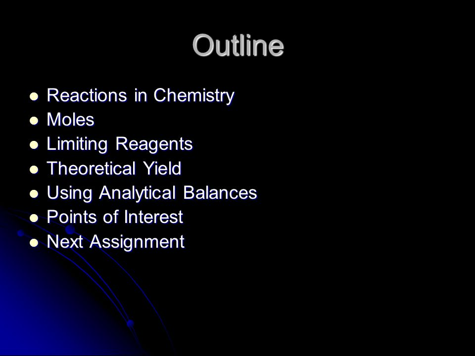 Reactions in Chemistry Reactions are complex Reactions are complex Gases, solids and liquids all react differently Gases, solids and liquids all react differently What you will be learning today are the basics only What you will be learning today are the basics only Always work with balanced reactions Always work with balanced reactions Balanced reactions provide us with molar ratios of reagents to products Balanced reactions provide us with molar ratios of reagents to products