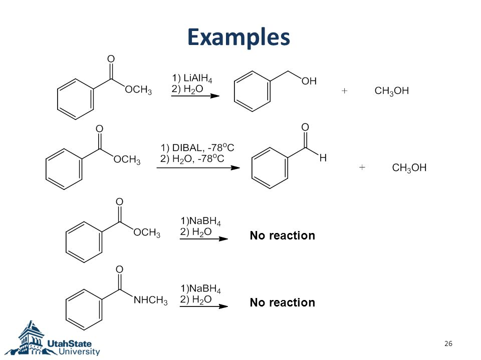 Examples 26 No reaction