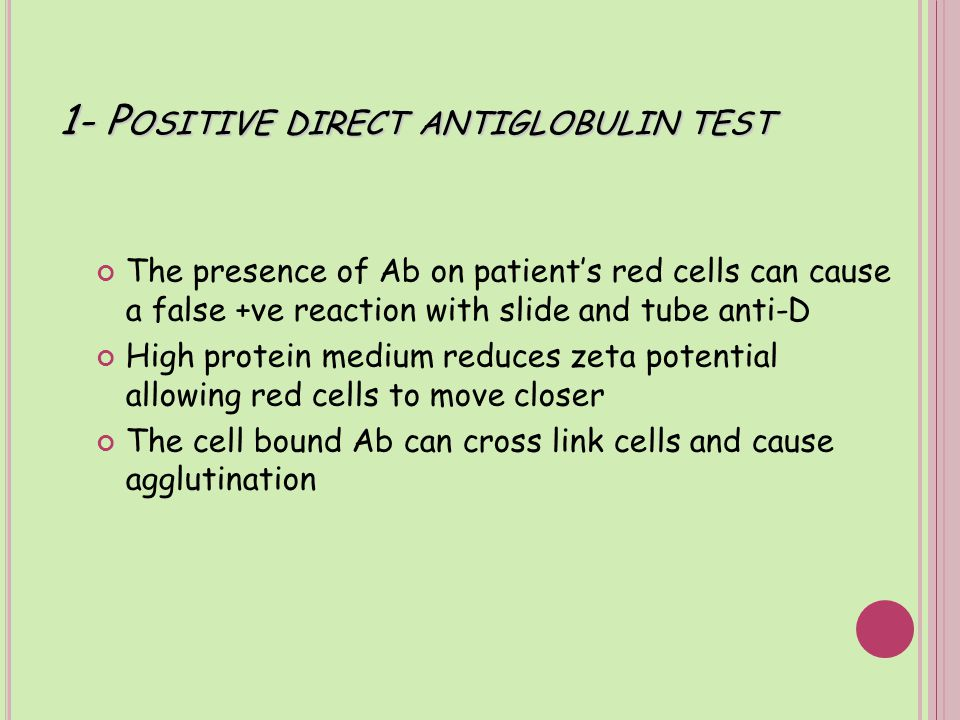 2- P OLAGGLUTINABLE RED CELLS Rh –ve red cells that are polyagglutinable due to T or Tn activation Agglutination occurs if anti-T or anti-Tn present in the anti-D reagent Most anti-D reagents do not contain these antibodies