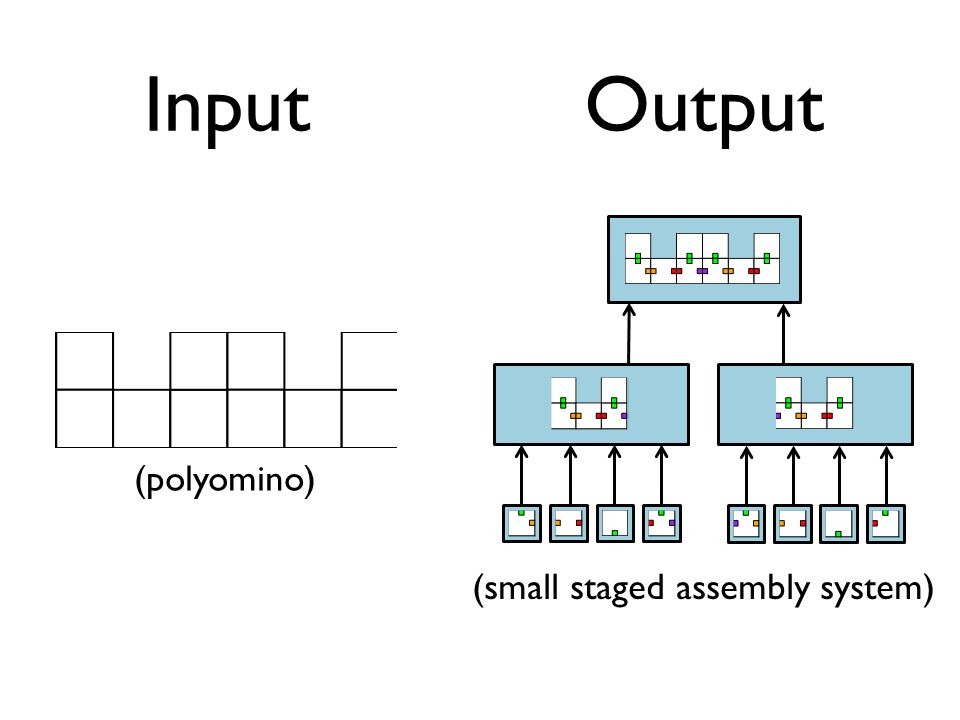 InputOutput (polyomino) (small staged assembly system)