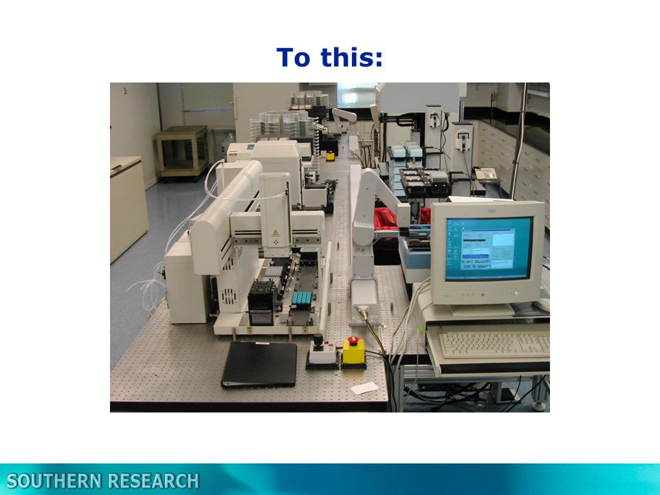 The Rules of HTS Begin with the end in mind (Stephen Covey) –Design an HTS assay from the beginning –Don't try to automate a manual assay after the fact KISS- Keep It Simple Stupid (Kelly Johmson) –Simple robust assays are best –Fewer variables increase the chance of success