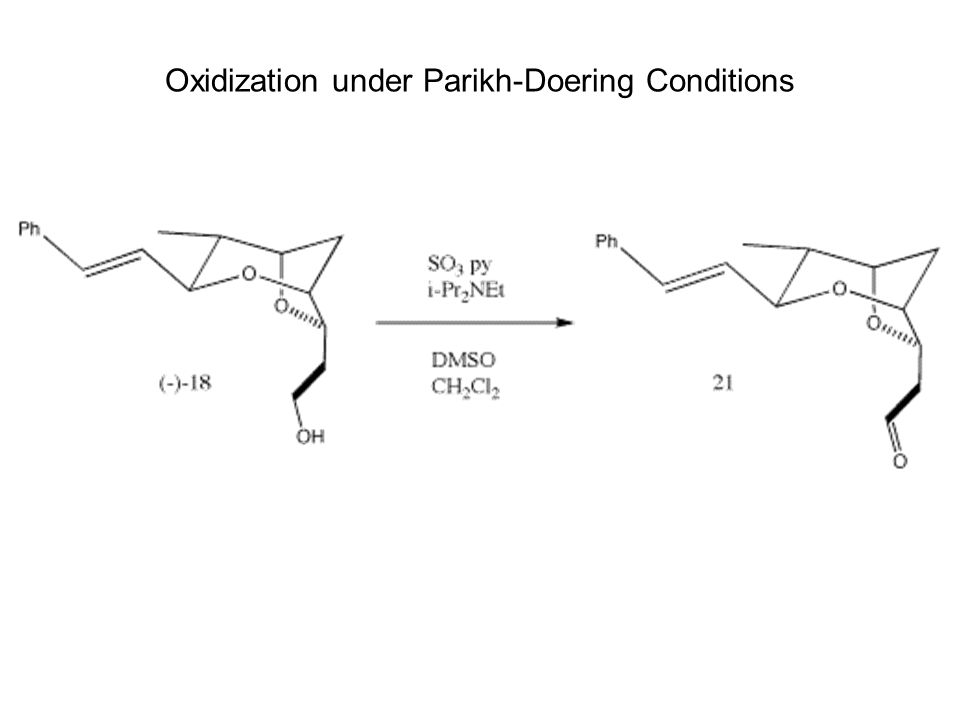 Oxidization under Parikh-Doering Conditions