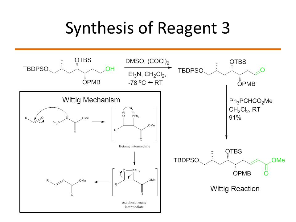 Synthesis of Reagent 3 Wittig Reaction Wittig Mechanism