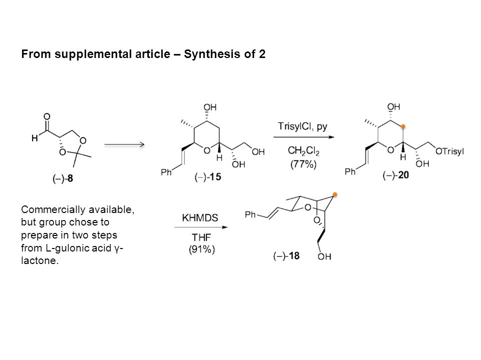 Putting It Together… complex mixture no reaction with 5b 20