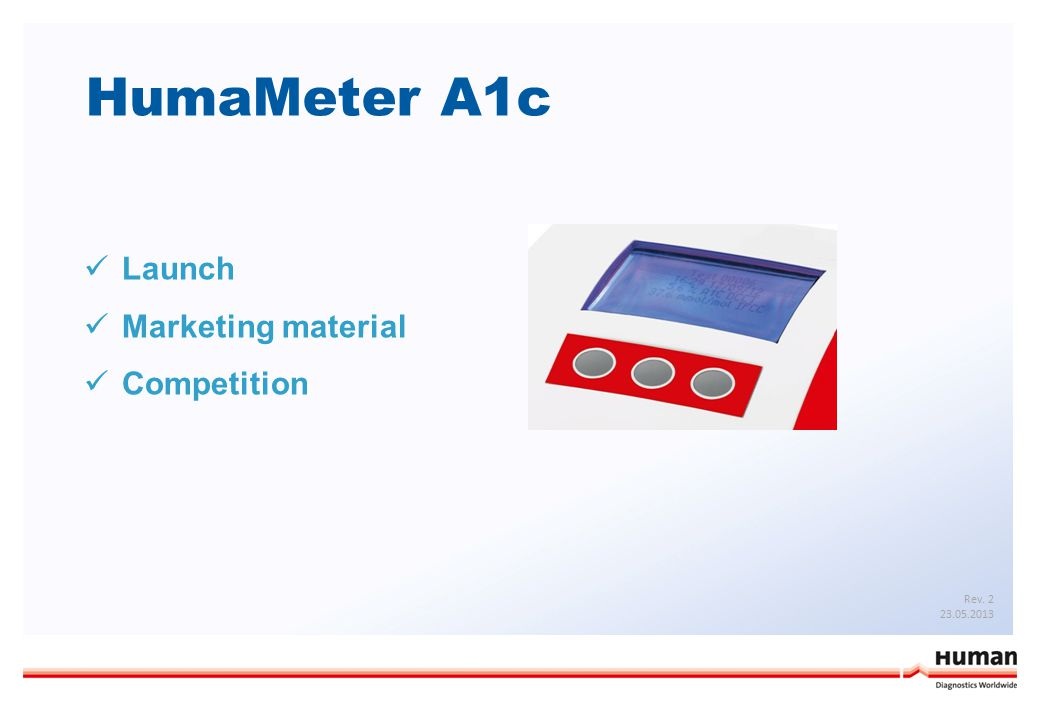 HumaMeter A1c Launch Marketing material Competition Rev. 2 23.05.2013