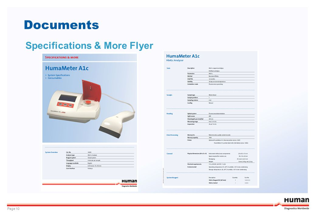 Documents Page 10 Specifications & More Flyer