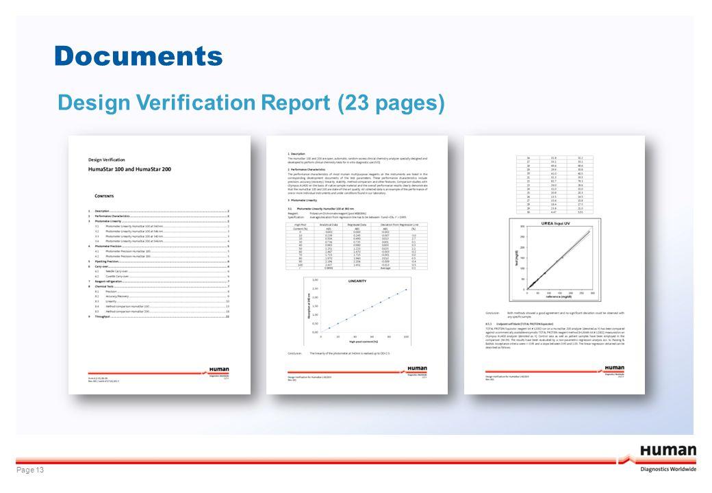 Documents Page 13 Design Verification Report (23 pages)