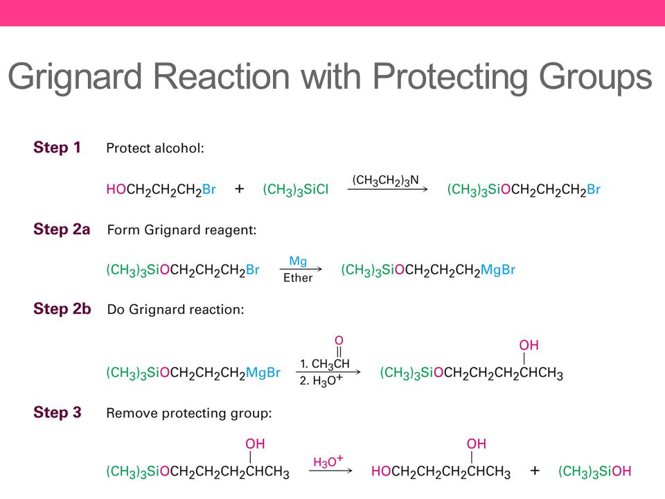 Grignard Reaction with Protecting Groups