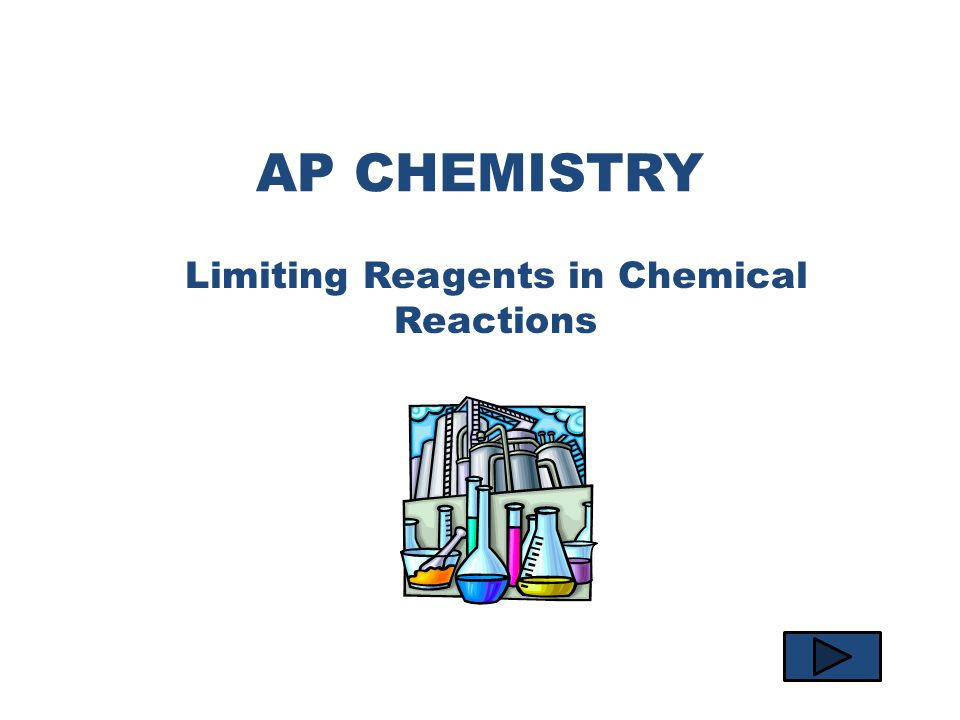 AP CHEMISTRY Limiting Reagents in Chemical Reactions