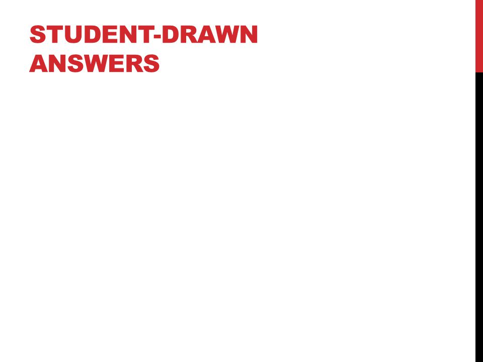 STUDENT-DRAWN ANSWERS