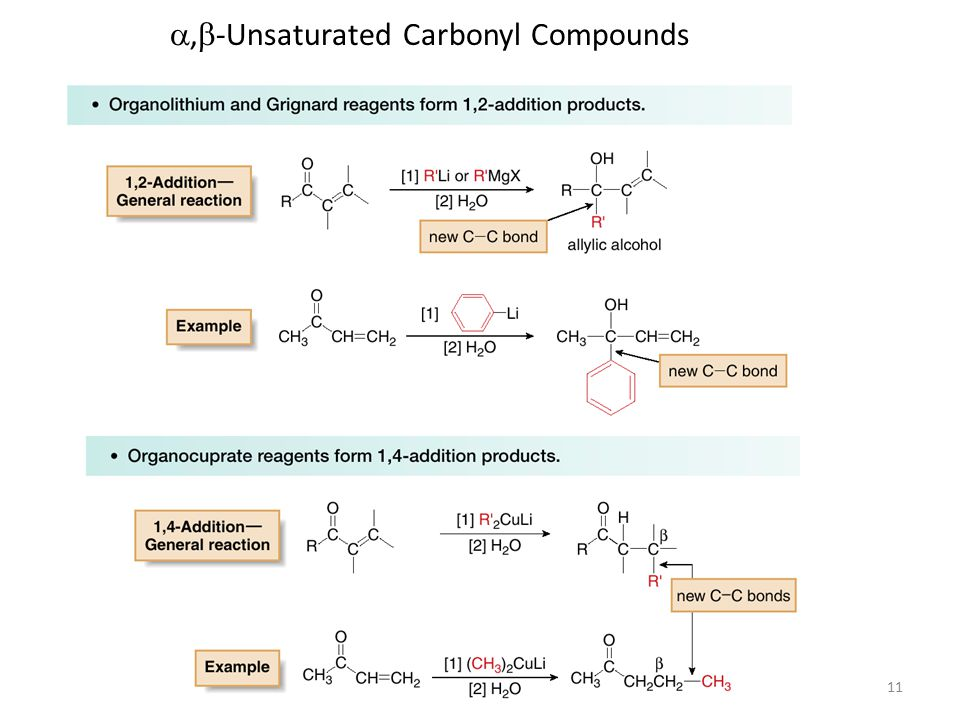11 ,  -Unsaturated Carbonyl Compounds