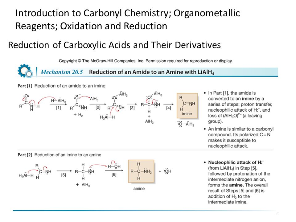 5 Reduction of Carboxylic Acids and Their Derivatives Introduction to Carbonyl Chemistry; Organometallic Reagents; Oxidation and Reduction