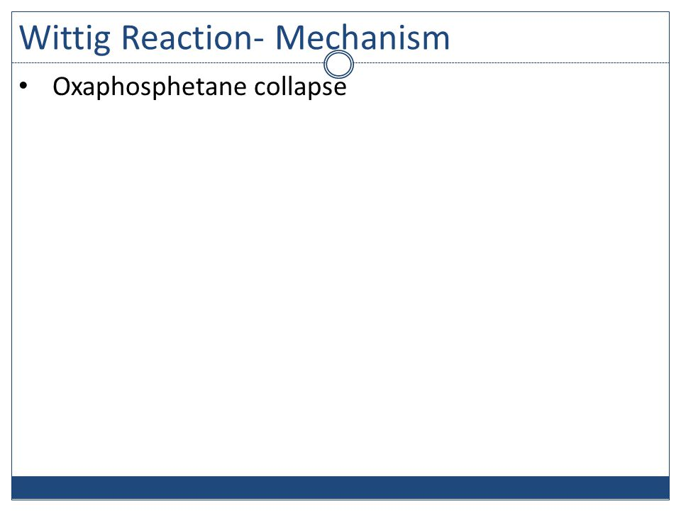 Wittig Reaction- Mechanism Oxaphosphetane collapse