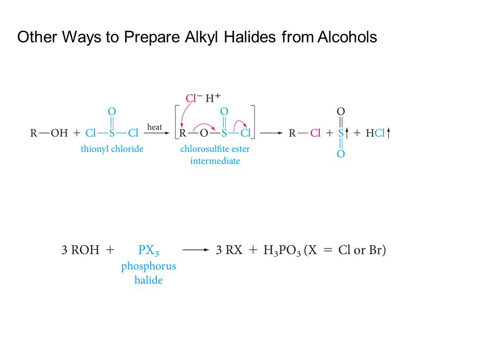 Other Ways to Prepare Alkyl Halides from Alcohols