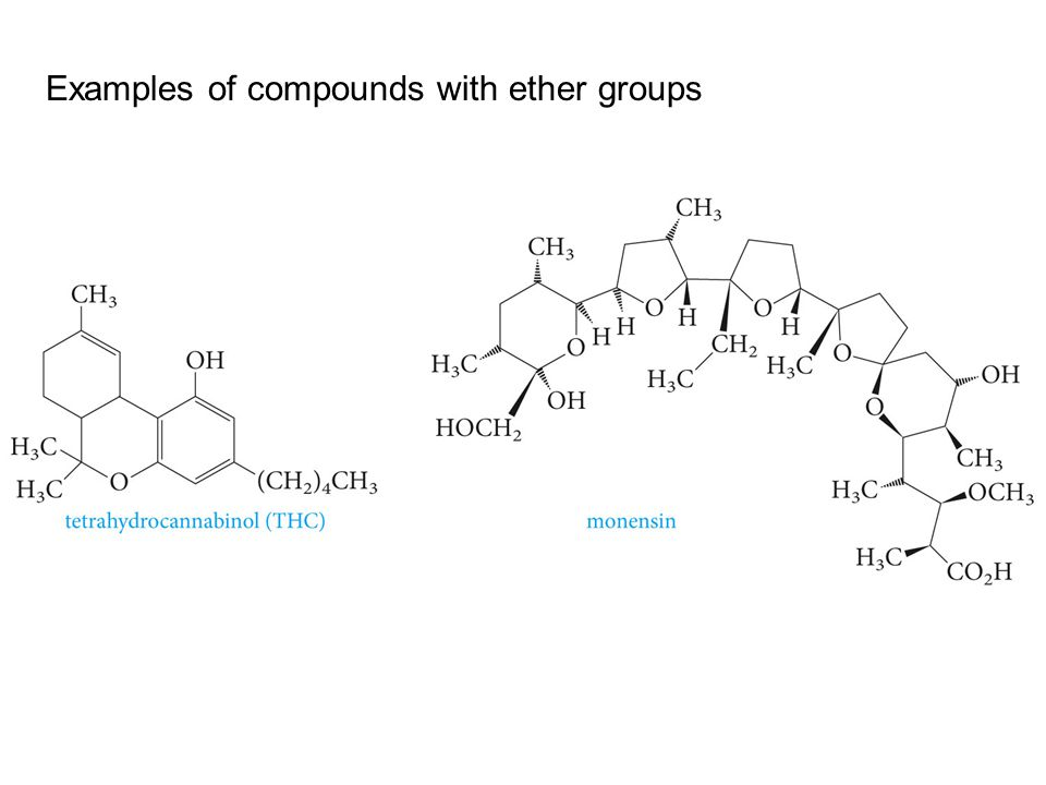 Examples of compounds with ether groups