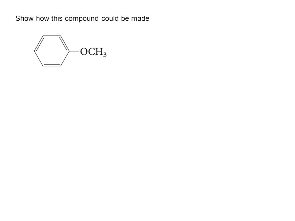 Show how this compound could be made